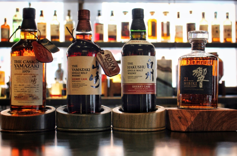 ROKA Mayfair's rare selection of Japanese Whiskies