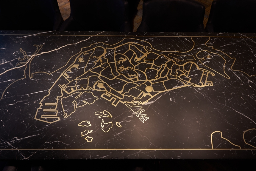 Singapore Map Table